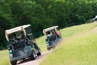 רכבי גולף בפארק הירקון לימי גיבוש